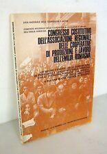 COOPERATIVE DI PRODUZIONE E LAVORO DELL'EMILIA ROMAGNA,Atti Congresso,1976