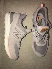 New Balance Womens 574 Sport Taupe Sneakers Shoes Size 7