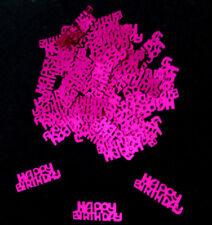 Dekokonfetti  Schriftzug  Happy Birthday  50 Stk   Streudeko  pink  Neu