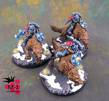 Warhammer 40k Space Wolves Thunderwolf Cavalry M-1 pro-painted