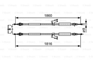 BOSCH Parking Brake Cable Fits VOLVO C30 C70 S40 V50 Wagon 2004- 1987482019