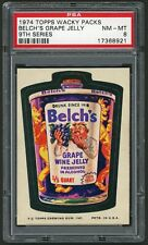 1974 Topps Wacky Packages Sticker Belches Grape Jelly 9th Series PSA 8 Non-Sport