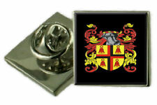 Vans Scotland Family Crest Coat Of Arms Lapel Pin Badge Engraved Gift Case