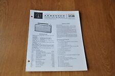 Ferguson 3138 Portable Transistor Radio Vintage Service Manual