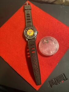 Vintage Hot Wheels Watch 1970 Mattel Swiss Made - Runs Fast -
