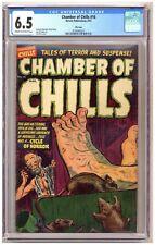 Chamber of Chills 16 (CGC 6.5) Elias-c; Nostrand-a; File copy; Harvey; 1953 C702