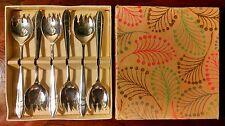 Danish Modern Sporks Mid Century Sheffield England Silver Plate Condiment Forks