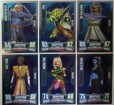 STAR WARS Force Attax Series 2  POWER UP / STAR  CARD SET 2011 MIRROR FOIL Topps