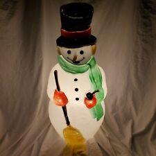 Vintage 40 Inch Snowman Blow Mold Empire