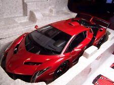LAMBORGHINI VENENO AUTOart SIGNATURE SERIES 74508 RARE RED 1/18 NIB