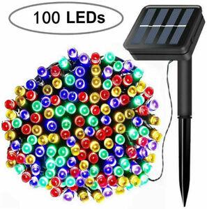 Solar Fairy String Lights 100 LED Twinkle Light for Garden Patio Lawn Balcony