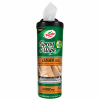 Turtle Wax Spray & Wipe Cleaner and Conditioner - Leather Detailing Wipes