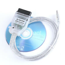 Hot USB OBD K+DCAN Diagnostic Cable Lead Ediabas Inpa SSS Progman For BMW