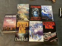 LOT OF 8 STEPHEN KING HARDCOVER & OVER SIZED SOFTCOVER BOOKS SOME 1ST EDITIONS