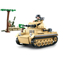Sluban WWII small German Tank M38 B0691 panzer II