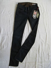 We Are Replay Femmes Blue Jeans Stretch w26/l34 Low Waist Slim Fit Straight Leg