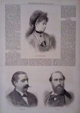 1873 PRINT MDLLE ILMA DE MURSKA - SIGNOR AGNES I- M FAURE - ADVERTS