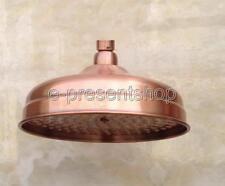 8 inch Round Antique Red Copper Bathroom Rainfall Shower Head Bsh054