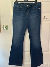 Ladies Karen Millen Navy blue Bootcut jeans size 16 worn only once