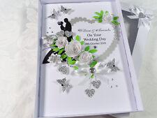 Handmade Personnalisé Carte Mariage Anniversaire Fiançailles Boîte Cadeau