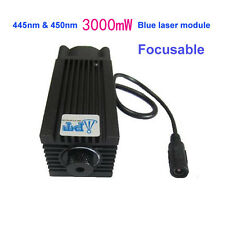 445nm 450nm 3000mW 3W Blue Laser Module for DIY CNC Cutter Engraving Engraver