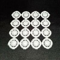 Glasuntersetzer Makramee Deckchen Spitze ca. 10x10 weiß 6 x Set Shabby Landhaus