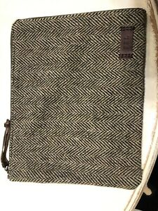 New Polo Ralph Lauren Olive Green Wool Tablet iPad Case Media Holder
