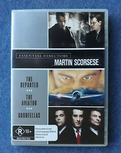 ESSENTIAL DIRECTORS Martin SCORSESE The Departed/The Aviator/Goodfellas 3DVD Set