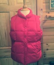 Lands End Puffer Vest Small Red Cartoon Network Logo Snaps Small 6-8 Womens