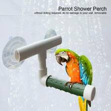New listing Pet Bird Parrot Plastic Shower Foldable Suction Cup Shower Wall Stand Toy Ca r o