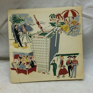 Vintage 1950's Hotel Carrera Advertising Christmas Card