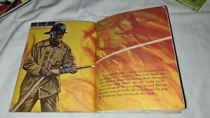 LITTLE GOLDEN BOOK fireman BRAVEST OF ALL fire fighting SYD 1973 1st AL ANDERSON