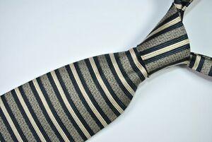 VALENTINO Tie MADE IN ITALY 100% Silk Blue/Black/White Color L57 W3.9