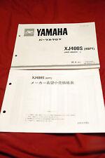 YAMAHA MOTORBIKE PARTS LIST MANUAL XJ400S 4BP1 JAPANESE E837012-1 114BP-010J1