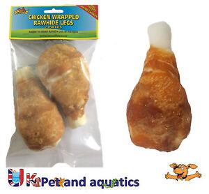 Rawhide Chicken Wrapped Chicken Leg, Dog Chew 13cm