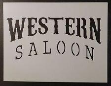 "Western Saloon Sign 11"" x 8.5"" Custom Stencil FAST FREE SHIPPING"