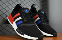 MENS Adidas Originals NMD R1 Tri Colour trainers Black Red Blue UK 8 NEW