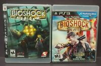 Bioshock + Bioshock Infinite - Game Lot PS3 Sony Playstation 3 Tested Working