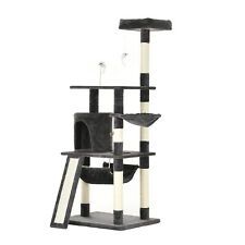 """New listing 62"""" Cat Tree Condo Kitty Scratching House Climbing Tower Hammock Plush Perches"""