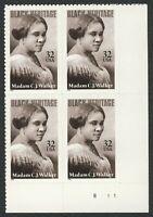 #3181 32c Madam C.J. Walker, Plate Block [B111 LR], Mint **ANY 4=FREE SHIPPING**