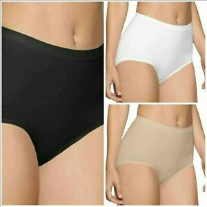 New Women's 3 Pack Seamless control maxi  Knickers Briefs super smooth