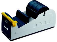T.R.U. ET-337 Blue/Grey Premium Steel Desk Top Tape Dispenser: 3in. Multi-Roller