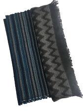 Boss Hugo Boss Men's Striped Herringbone Wool Scarf Winter Warm Multi