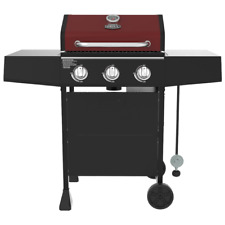 New ListingExpert Grill 3 Burner Propane Gas Grill in Red