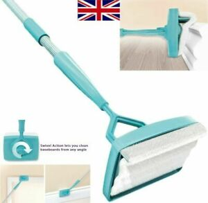 Skirting Board Cleaning Brush - simply Walk & Glide  Microfiber Dust Home UK
