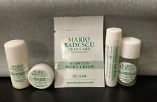 Mario Badescu 5 pieces samples sizes cream lotion cleansing and lip wax new