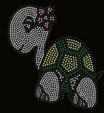 Turtle rhinestone iron on transfers for t shirts  8CI