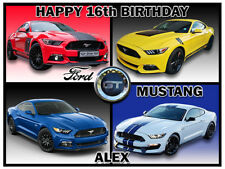 Mustang Ford Edible Icing Image Personalised Birthday Party Cake Topper