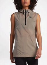 Nike Womens Size Medium Tech Hypermesh Full Zip Vest 833464 235 Khaki Tan $130
