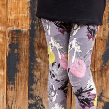 Pink and grey floral leggings women's plus size super soft